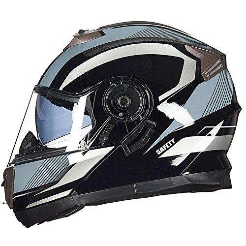 WEGCJU Casco De Motocicleta Seguridad para Hombres Y Mujeres Auriculares Bluetooth Incorporados...