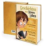 Tagebuch Notizbuch für Kinder von Eltern geschrieben: JUNGEN - Geschichten aus Deinem Leben braun gelb - Geschenk Geburt Weihnachten Schwangerschaft DIN A4 leeres Buch zum Selberschreiben