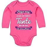 Shirtracer Sprüche Baby - Ich Habe eine verrückte Tante Lila - 3-6 Monate - Fuchsia - BZ30 - Baby Body Langarm