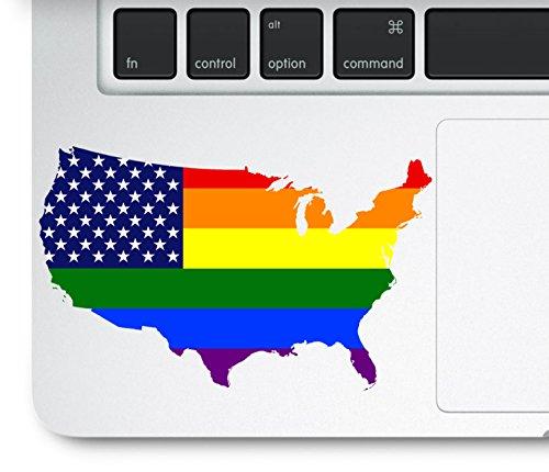 Aufkleber für MacBook Pro, Retina und Air-Modelle, Motiv: USA-Karten; Trackpad, MacBook; kompatibel mit Allen MacBook Pro, Retina und Air Modellen, Aufkleber