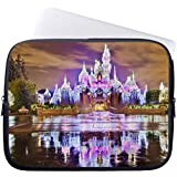 Hugpillows Laptop Sleeve / Bag Sleeping Beauty Castle Christmas At Disneyland Notebook Sleeve Cases With Zipper For Macbook Air 15 inches