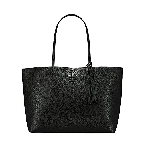 Tory Burch Damen Shopper McGraw Black/Royal Navy