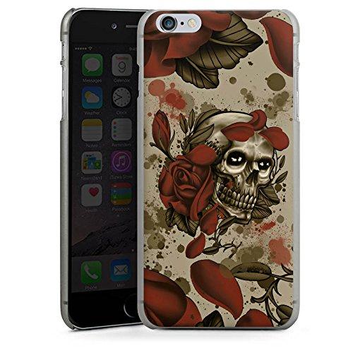 Apple iPhone X Silikon Hülle Case Schutzhülle Tattoo Rock n Roll Totenschädel Hard Case anthrazit-klar