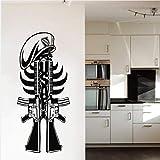 ZGQQQ Militar Americano Arma Cartel De La Pared Fresca Casa Dormitorio Arte Arte Más Fresco Decoración Arte Diseño Mural Pistola Patrón De Pared Tatuajes De Pared
