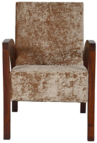 The Village Shop TVSLIVING06 Armchair (Melamine Finish, Brown)