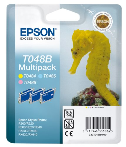 Preisvergleich Produktbild Epson T048B Tintenpatrone Seepferd, Multipack, 3-farbig