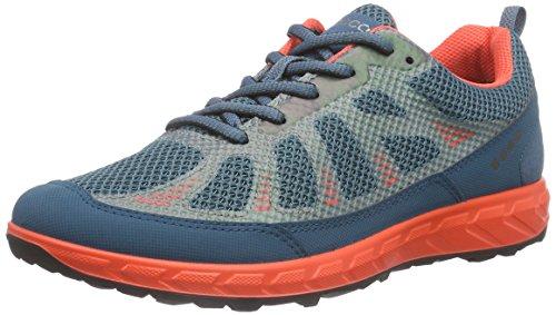 ECCO Terratrail Ladies, Scarpe da Trail Running Donna Multicolore(Petrol/Petrol/Coral Blush 59486)
