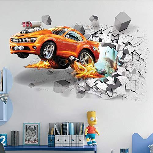 1 Stück Kreative Fußball 3D Wandaufkleber Basketball Gebrochene Wandkunst Aufkleber Auto Wand Poster Kinderzimmer Dekoration Jungen Gefälligkeiten (Für Gefälligkeiten Baby Jungen)