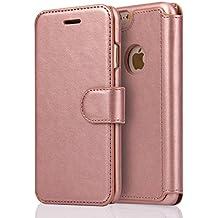 Funda iPhone 6/ 6S, SOWOKO Carcasa Cuero Cartera Flip Case con Cierre Magnético para Apple iPhone 6 6S (Rose Gold)