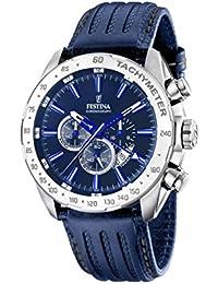 Festina - F16489-B - Montre Homme - Quartz Chronographe - Cadran Bleu - Bracelet Cuir Bleu