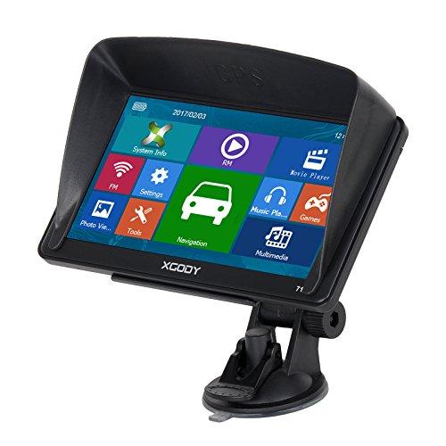 Xgody 712 - Sistema de Navegación GPS para Camión de 7 Pulgadas con Pantalla Táctil capacitiva de 8 GB ROM SATNAV Navigator con mapas de por Vida actualizaciones de Dirección de Giro por Giro