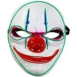 Biback Halloween LED Máscaras Adultos Horror Mask para la Fiesta de Disfraces, la Navidad, Cosplay...