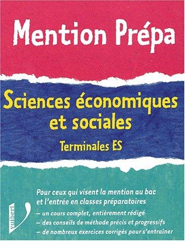 Sciences économiques et sociales Terminales ES