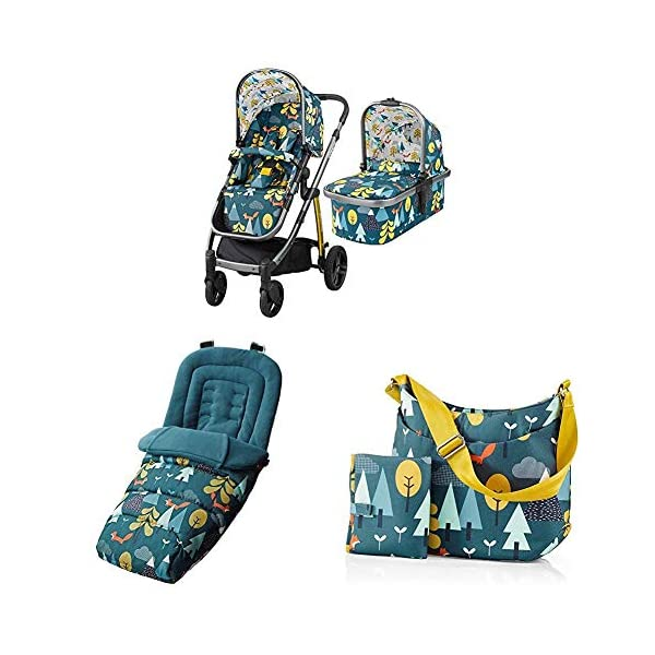 Cosatto Wow Pram and Pushchair, from Birth Carrycot and Pushchair Suitable upto 25 kg, Fox Tale with Footmuff and Change Bag Cosatto  1