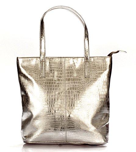 Carry Walk Women\'s Synthetic Handbag_Silver-CW2