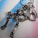 Hochwertig Gelenk Skelett Schlüsselanhänger mit Geschenk-Box