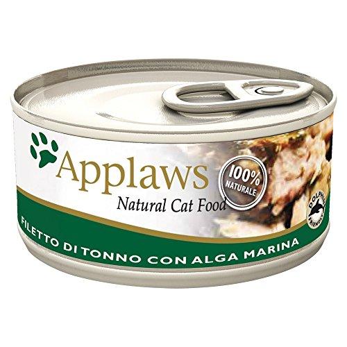 APPLAWS CAT latas alimentos naturales atún y algas 156 gr Comida moja