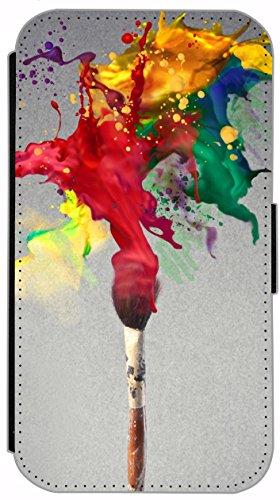 Flip Cover für Apple iPhone 6 / 6S (4,7 Zoll) Design 220 Drache Dragon Feuer Schwarz Hülle aus Kunst-Leder Handytasche Etui Schutzhülle Case Wallet Buchflip mit Bild (220) 200