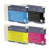 4 x Epson T6161 T6162 T6164 T6163 (C13T616100 C13T616200 C13T616300 C13T616400) Tintenpatronen für Epson B300 B310 B500DN B510DN - (Black Cyan Magenta Yellow) BK / C / M / Y - Standard Capacity Set Satz Multipack (Datum überschritten)