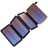 25000mAh alta capacità Con una capacità di 25000mAh questo caricabatterie solare può caricare velocemente iPhone 6 per 10+ volte, un iPhone 7 per 9+ volte, Galaxy S6 per 6+ volte, iPad mini per 3,5 volte. Non c'è ...