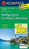 Wolfgangsee, Fuschlsee, Mondsee: Wanderkarte mit Aktiv Guide, Panorama, Radwegen und alpinen Skirouten. GPS-genau. 1:25000 (KOMPASS-Wanderkarten, Band 18)