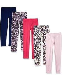 Amazon Essentials 5-Pack Girls Legging - Leggings-Pants Niñas