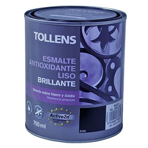 Tollens 8710 Esmalte Antioxidante Liso Brillo, Negro, 750 ML