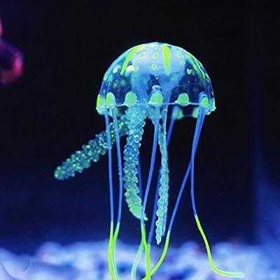 """12"""" Green Water Plastic Plant Decoration for Aquarium"""