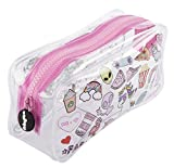Fringoo® Liquid Pencil Case for Girls vedere attraverso grandi teenager astuccio regalo Grande Teen Doodles