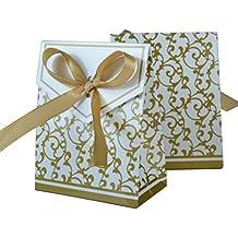 ROSENICE Matrimonio favore borse regalo festa di anniversario di borse Candy in Golden Pack 100 - Partita Busta