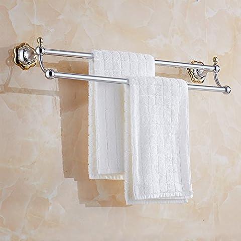 LYNDM Fiore semplice asciugamano Bar, moderno in acciaio inossidabile Portasalviette