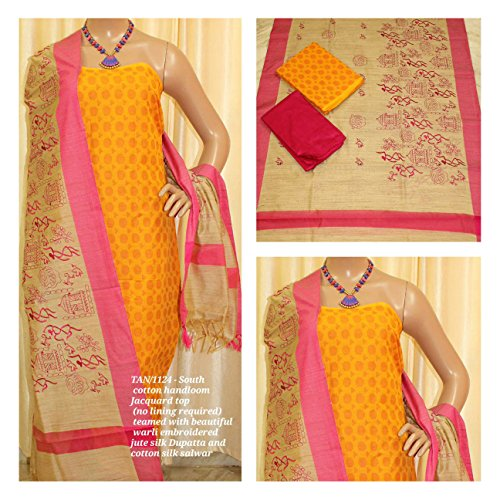 Avni Fashion South Cotton Handloom Jacquard Top (no lining required) teamed with...