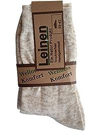6 Paar Natur 100% Leinen-Baumwolle Socken ohne Naht 35 36 37 38 39 40 41 42 43 44 45 46 47 48 49 50