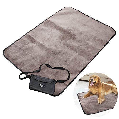 dry bed UEETEK Decke für Haustier,Wasserdichte und Plüsch Hundedecke Matte mit Tragbar Tragetasche für Hund Welpen Katze Innen Draussen Anwendungen,100 * 70 CM(L * W)