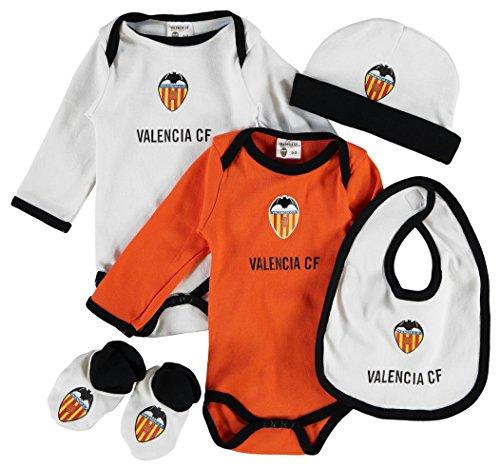 Valencia CF Set para Bebé, Blanco / Naranja, Talla Única