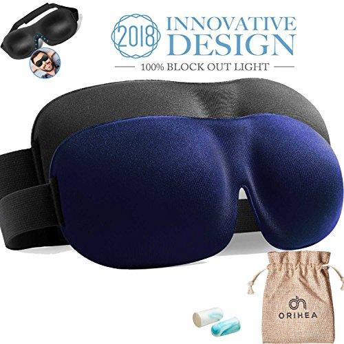Schlafmaske OriHea 2er-Pack Augenmaske für besseren Schlaf, 3D konturierte bequeme ultraweiche Schlafbrille, Augenbinde & Ohrstöpsel Set mit Aufbewahrungstasche - Wie Man Make-up