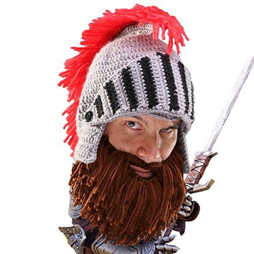 Barba Head®-el Original bárbaro Caballero Knit barba sombrero Marrón marrón Talla única