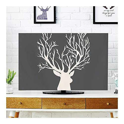 YMYP08 TV-Abdeckung, POP TV-Abdeckung Staubschutz, Abdeckung Typ 55-Zoll-60-LCD-TV-Staubschutz Tuch TV-Stoff, Computer Multi-Size-Staubschutz (Color : Section B, Size : 47in)