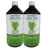 QueenRoyal Aloe Vera Trink Gel 99.55 % pur, IASC - Qualität, 2 Liter Sparpack, #30226