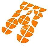 Emblem Ecken Aufkleber Neon von Finest-Folia (Neon Orange)