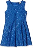 Yumi Girl's Sequin Lace Box Pleated Dress, Blue, 11-12 Years (Manufacturer Size:11/12 Years)