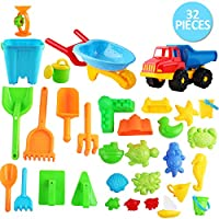 deAO Beach Toy Set with Variety of Sand and Over 30 Water Accessories - Great Gift for Summer