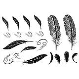 Dernières nouvelles 2012 hommes de conception de vente chauds et imperméables tatouage des femmes de plume autocollant de tatouage faux
