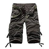 WYX 5 Farben Plus Größe 29-38 Neue Sommer Camouflage Lose Cargo Shorts Männer Camo Sommer Kurze Hosen Homme Cargo Shorts,c,34