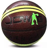 CN Zhuguang PU Baloncesto Entrenamiento Competencia Amateur séptimo Adulto Baloncesto Resistente al Desgaste Antideslizante Baloncesto de la Mano,Café Verde,Numero 7