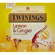 Twinings Revive and Revitalise Lemon and Ginger Tea Bags 120g, 80 Tea Bags