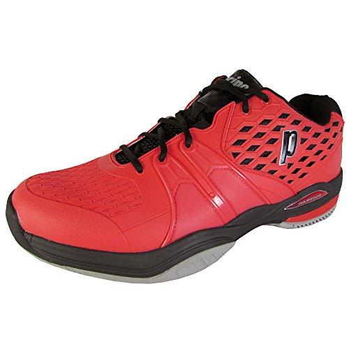 Prince–De Warrior Clay Court Chaussures de Tennis pour Homme–Rouge/Noir Rouge