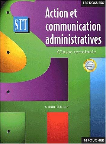 Action et communication administratives Terminale STT