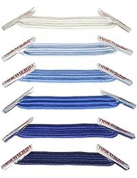 U-LACE MIX Lacets élastiques plats sans laçage Enfant Adulte 7 ans a 77 an - Minimum : 2 sachets nécessaires - Comptez bien vos oeillets ! ( Ice Multi-Color)