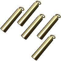 5pcs portátil sello de bronce EDC exterior puede impermeabilizar cuadro bin junta de cobre llavero dominante del rey almacenamiento en seco